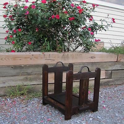 Antique Superb Rare Stickley Brothers Log Holder w5376