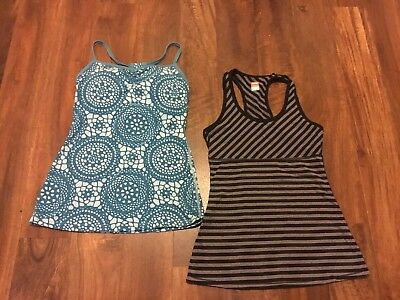 622b320e7b8ee Lucy Women s Lot of 2 Athletic Tank Tops Size Small XS black gray green 305