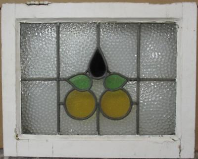 "OLD ENGLISH LEADED STAINED GLASS WINDOW Pretty Abstract Design 22.5"" x 18"""