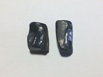 [Rare] Whitby JET pair, 9.2 carats combined (England)