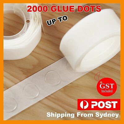 Up 1000x Balloon Glue Dots Photo Adhesive Bostik Party Double tape Scrapbooking