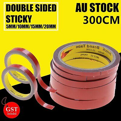 3m Double Sided Sticky Strong Permanent Versatile Roll Tape Heat Resistant Stick