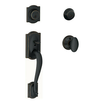 Schlage F62-CAM-SIE Double Cylinder Handleset From the Camelot Series