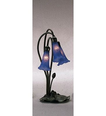Meyda Tiffany 13746 Blue Stained Glass / Tiffany Desk Lamp