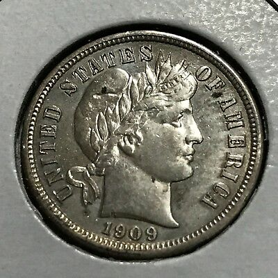 1909 Silver Barber Dime Brilliant Uncirculated Coin