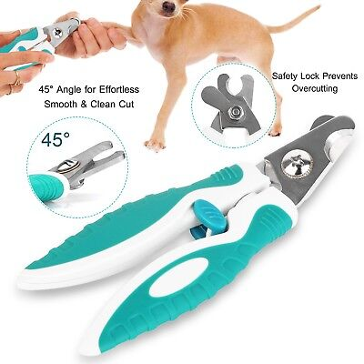 Professional Pet Nail Clippers Stainless Steel Trimmer for Dog Cat Grooming Tool