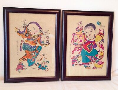 Oriental Pictures Paper Chinese Painting  2 Pieces Chinese Wall Pictures