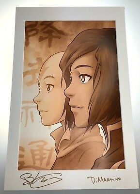 The Legend of Korra Avatar Generations LE 300 Print Signed The Last Airbender