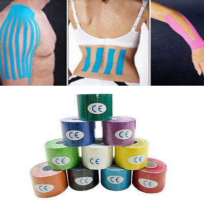 2.5/5cm Kinesiology Sports Tape Muscles Care Elastic Physio Therapeutic Hot