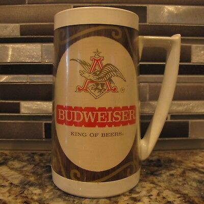 Vintage Budweiser Thermo-Serve Insulated Beer Mug - Good Condition