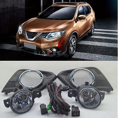 for nissan rogue x-trail t32 fog light lamps & wiring harness switch kit