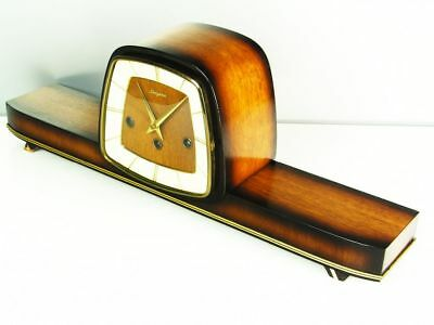 Beautiful Art Deco Westminster Chiming Mantel Clock From Dugena Hermle