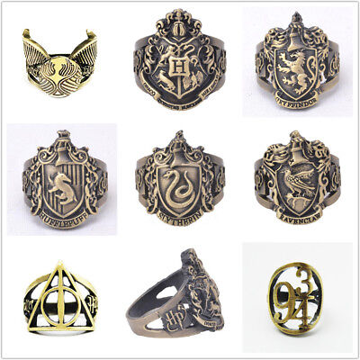 Harry potter zinc Alloy finger ring Cosplay Prop vintage handmade party ring 8#
