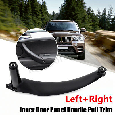Front Right + Pair Rear Inner Door Panel Handle Pull Trim Cover For BMW E70 X5