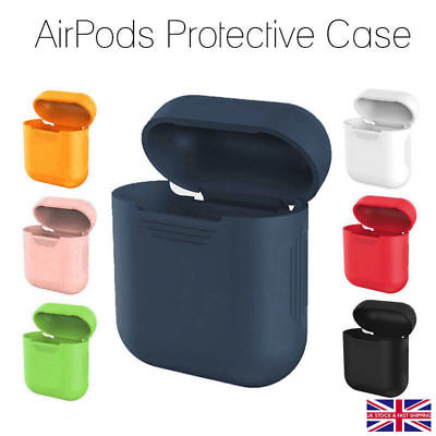 Silicone Airpods Protective Cover Case Slim Skin For Apple AirPod Earphones New