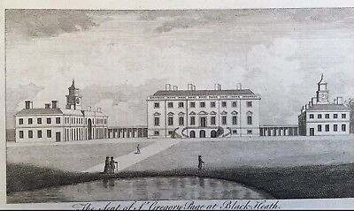1776 Antique Print; Wricklemarsh House, Blackheath, London by Goadby