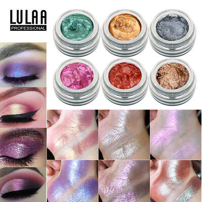 14 Color LULAA Cosmetic Glitter Eyeshadow Cream Eye Shadow Makeup Pigment SF