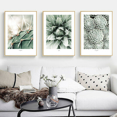 Plant Leaf Canvas Poster Flower Wall Art Print Nordic Style Picture Room Decor