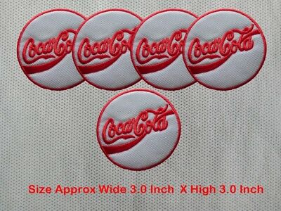 """Enjoy Capitalism~Coca-Cola Coke Font~Embroidered Patch~3/"""" X 2/""""~Iron or Sew On"""
