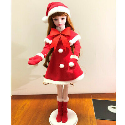 Adorable 1/3 BJD Doll Clothes Christmas Party Outfits - Dress Cloak For DOD
