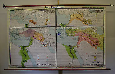 Schulwandkarte Map Africa Old Orient Vintage 1985 Babylon Egypt 210x133 Top