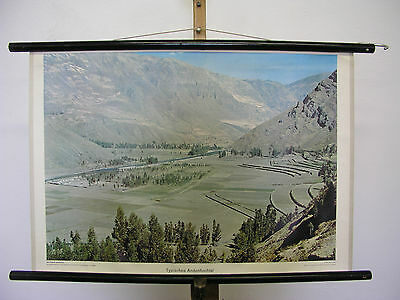 Nice Old Wall Picture Typical Andenhochtal Mountains South America 75x51