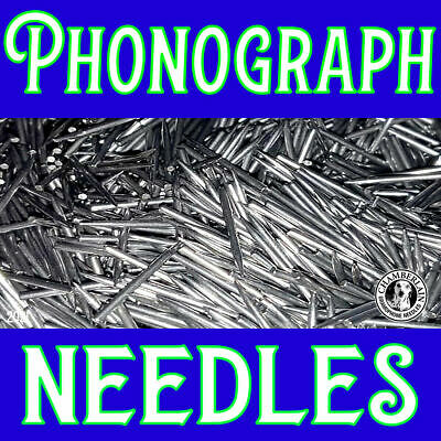 100 VICTROLA MEDIUM TONE NEEDLE PACKS for Hand Crank Gramophones Records
