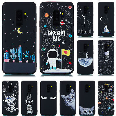 For Samsung Galaxy S8 S9 + A6 A8 2018 Silicone Painted Slim Soft TPU Case Cover