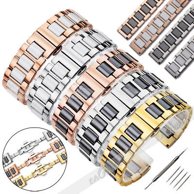 20MM / 22MM Ceramics Stainless Steel Metal Bracelet Replacement Watch Band Strap
