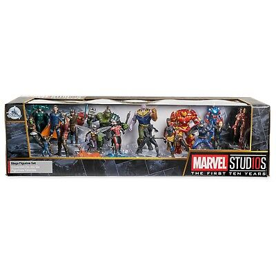 Disney Store 10th Years Anniversary Marvel Avengers Mega Figure Play Set of 20