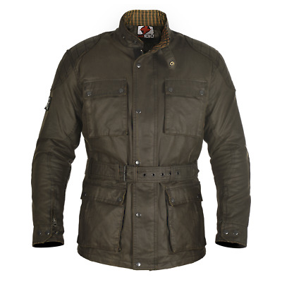 *NEW* Oxford Heritage Wax Motorcycle Jacket Olive Size L / UK42 - RRP £189.99