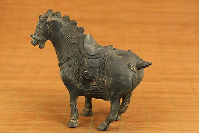 Rare chinese old bronze Horse Fortune statue home decoration noble gift