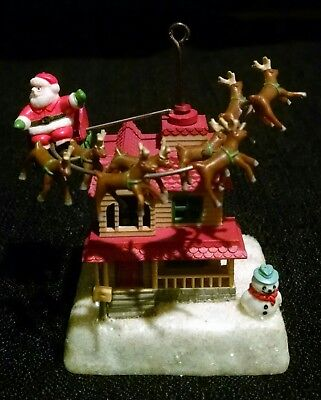 Enesco Up On The Housetop Ornament 1984