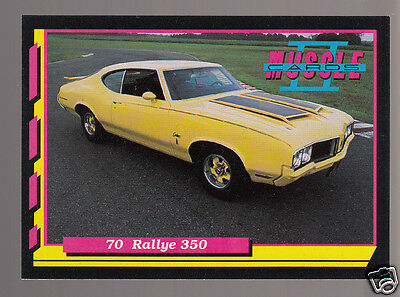 1970 OLDSMOBILE RALLYE 350ci 310hp V8 Yellow Muscle Car Photo 1992 TRADING CARD