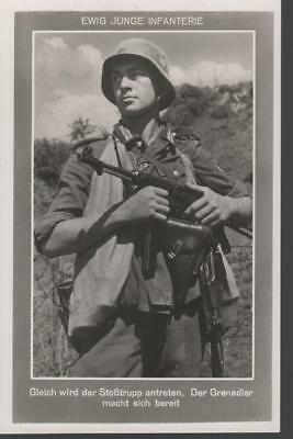 rare German WWII Original Wehrmacht Army Postcards Young Infantry Wartime 1942 c