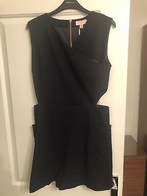 8a82b97f4906 TED BAKER KONNEE Wrap Front Cut Out Playsuit Navy Size 12 3 -  29.96 ...