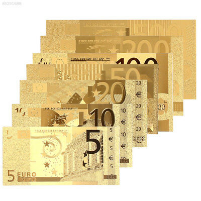 9118 24K Gold Plated Euro Commemorative Notes High Quality Antique Gifts
