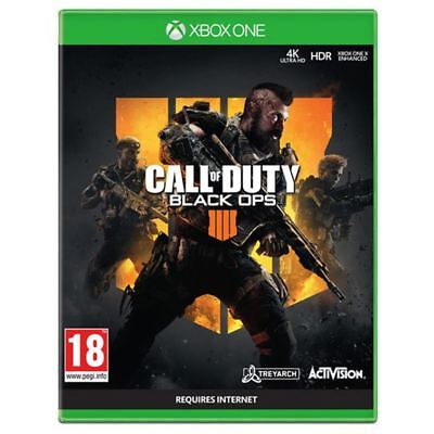 Activision Call of Duty Black Ops 4 For Xbox One Video Game 4k HDR Ages 18+