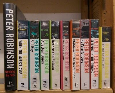 PETER ROBINSON: collection of 10 adult fiction books