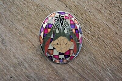 Disney Hong Kong Parks HKDL Mosaic Collection Stained Glass Eeyore Pin