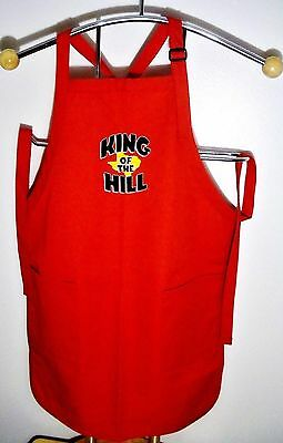 """1990's Singular Mint FOX """"TM"""" Trademark Promotional King of the Hill Grill Apron"""