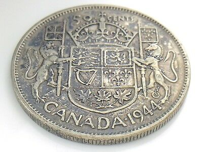 1944 Canada 50 Fifty Cent Half Dollar George VI Canadian Circulated Coin I281
