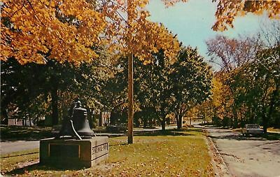 Salem Ohio~MacMillan Bell Under Fallen Brown Leaves of Autumn 1956