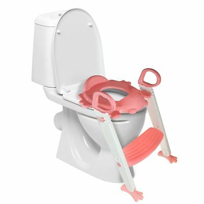 Kids Childrens Toilet Seat & Ladder Toddler Training Step Up Easy Fold Down