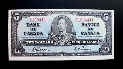 1937 Bank Of Canada $5 Dollars  **Gordon & Towers**  X/C 1904441  BC-23b