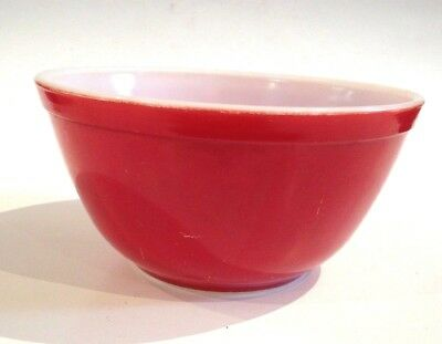 Vintage Pyrex Primary Red 1 1/2 Qt Nesting Mixing Bowl 402