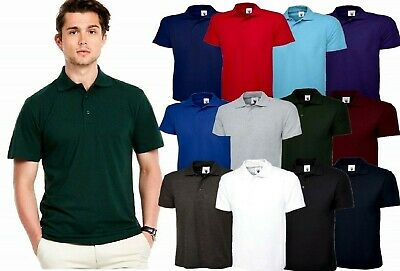 Mens Polo Shirt Size XS to 5XL Pique T-Shirt NEW PREMIUM **UK STOCK**