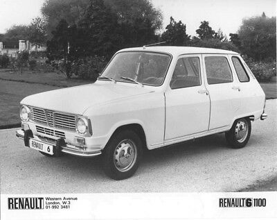 1968 Renault 6 1100 ORIGINAL Factory Photo oac1262