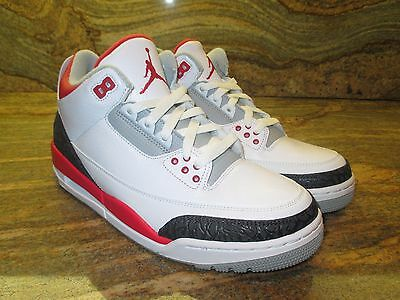 best website e526b 3a135 2013 NIKE AIR Jordan 3 III Retro 88 OG SZ 10.5 Fire Red White Cement  136064-120