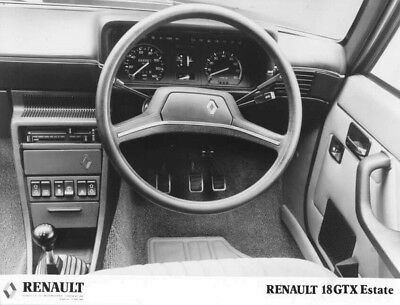 1981 Renault 18 GTX Estate Wheel & Dashboard ORIGINAL Factory Photo oac1304